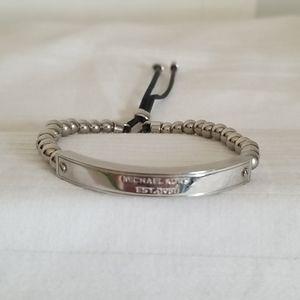 Michael Kors Silver Bead Adjustable Bracelet